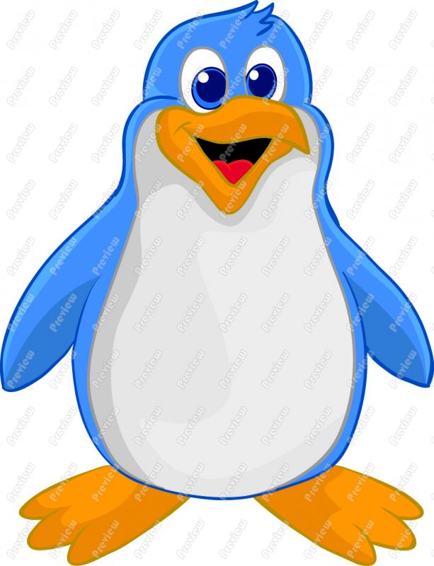 Cartoon Penguin Clip Art.
