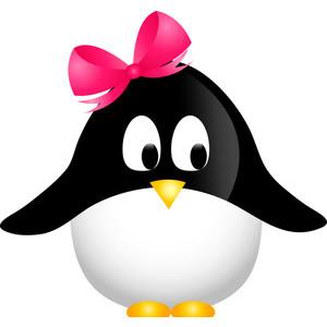 Cute Cartoon Penguin Clipart.