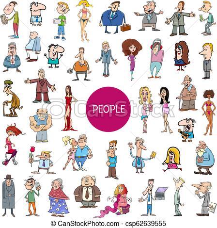cartoon people characters huge set.