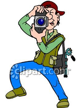 Free Clipart Photographer Taking Picture.