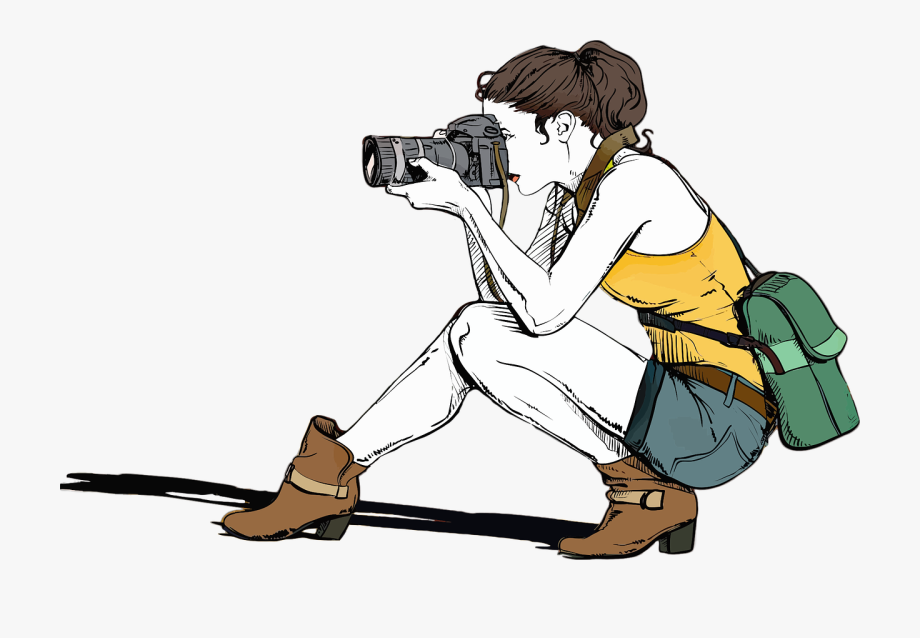 Girl Photographer Clipart Girl Photographer Clipart.
