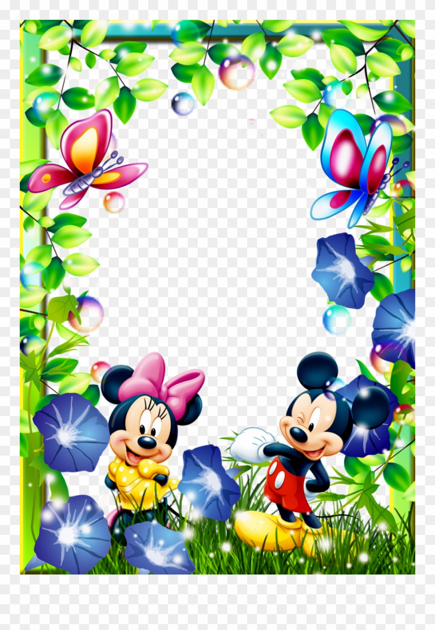 Cartoon Characters Frames Clipart Picture Frames Mickey.