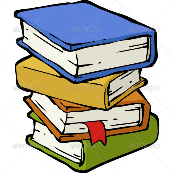 Cartoon Pictures Of School Books.