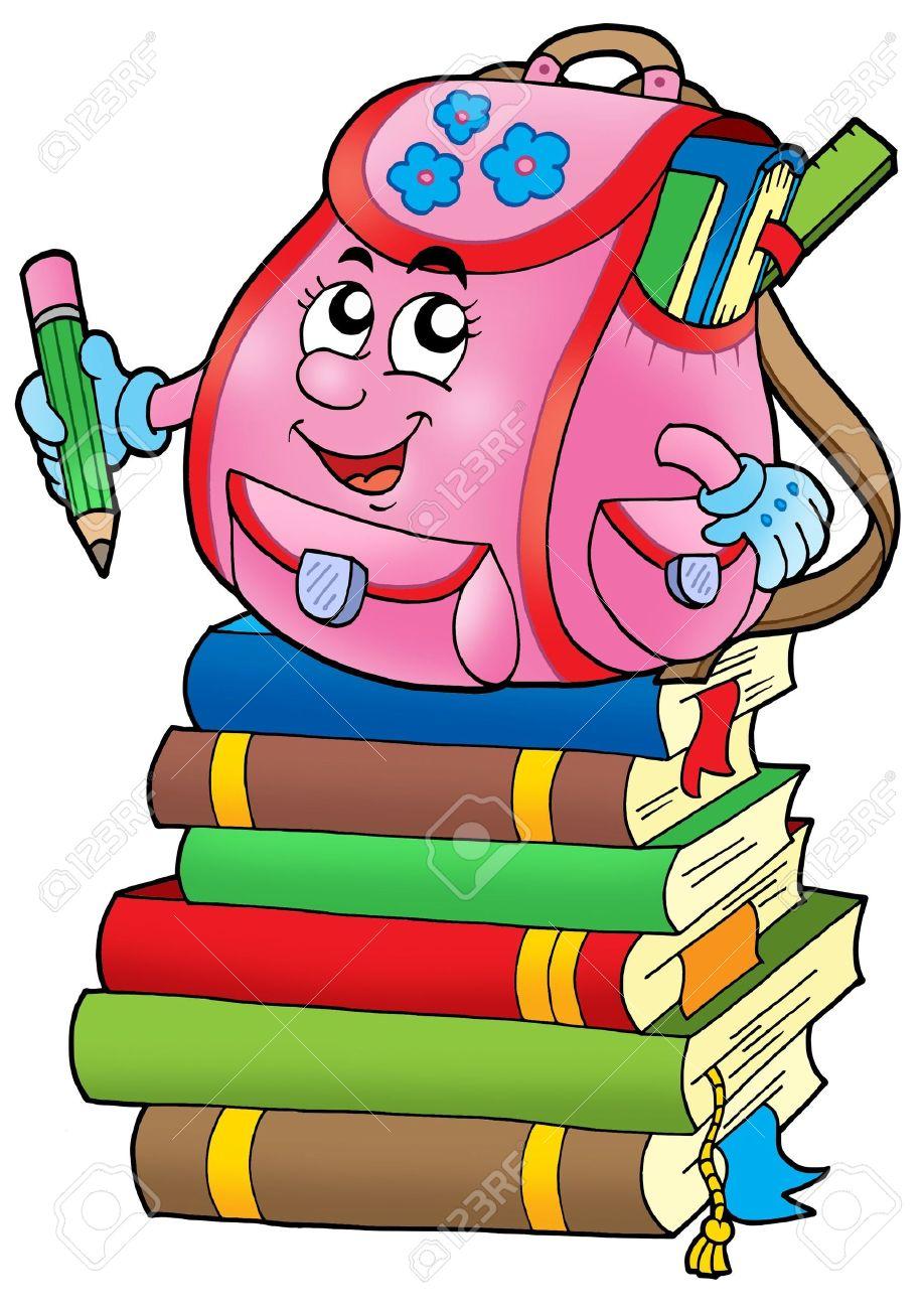 cartoon books bag clipground