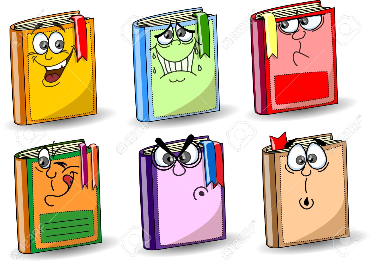 Cartoon School Books Royalty Free Cliparts, Vectors, And Stock.