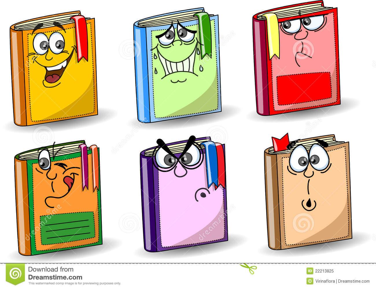 Cartoon School Books, Vector Royalty Free Stock Photo.