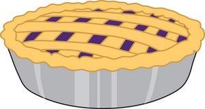 cartoon blueberry pie clipart.