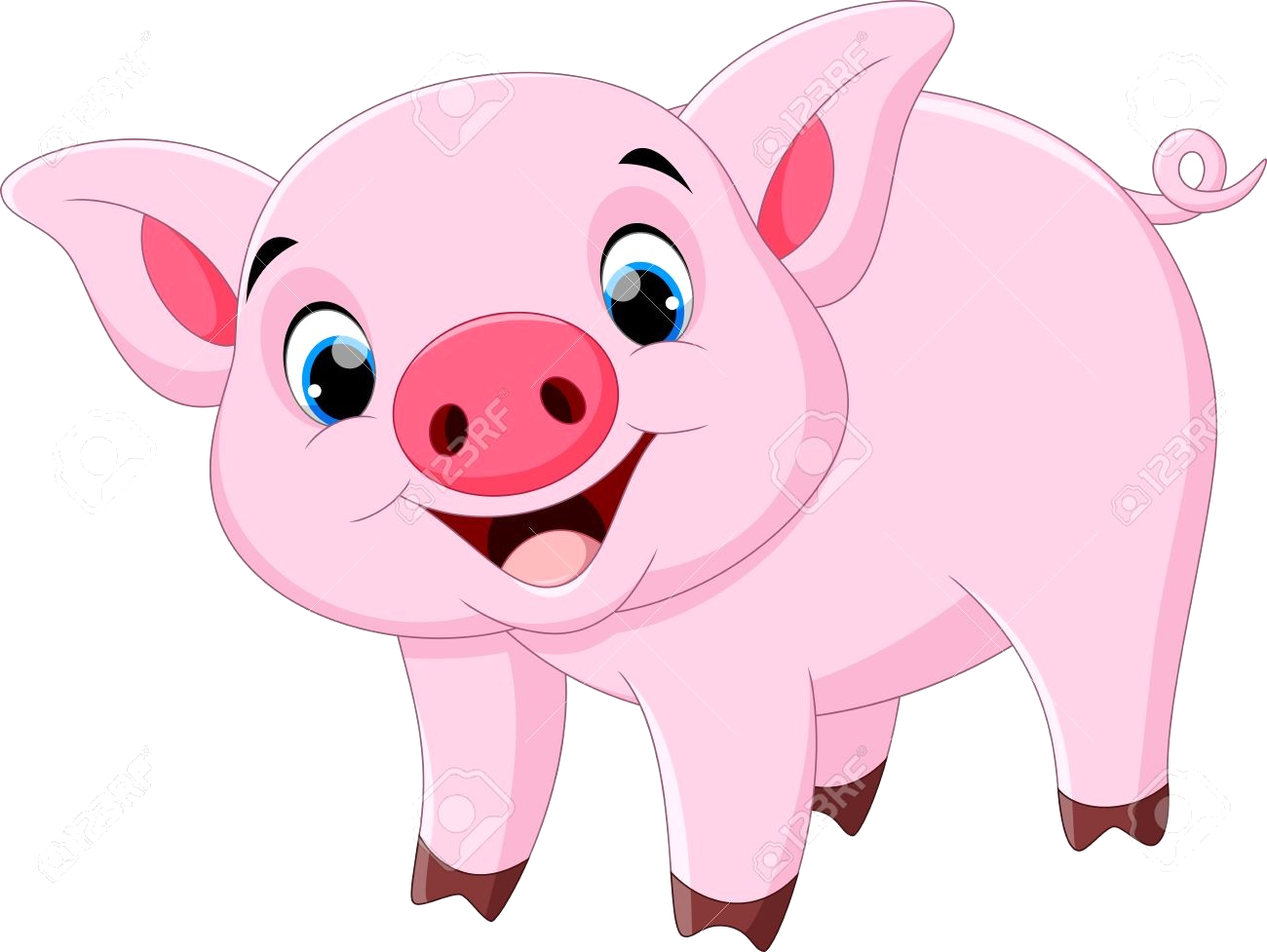 Pig Clipart Cute Cartoon Pigs Thanhhoacar Com Transparent Png.