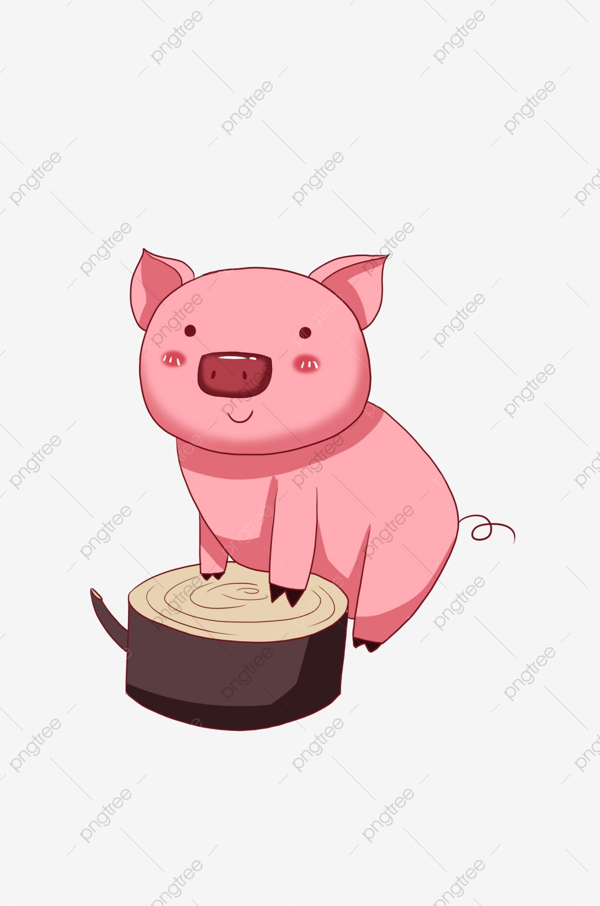 Cartoon Pig, Pig Clipart, Cartoon Clipart, Hand Painted Pig PNG.