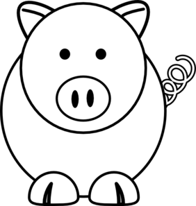 White Cartoon Pig Clip Art at Clker.com.