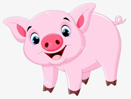 Free Cute Pig Clip Art with No Background.