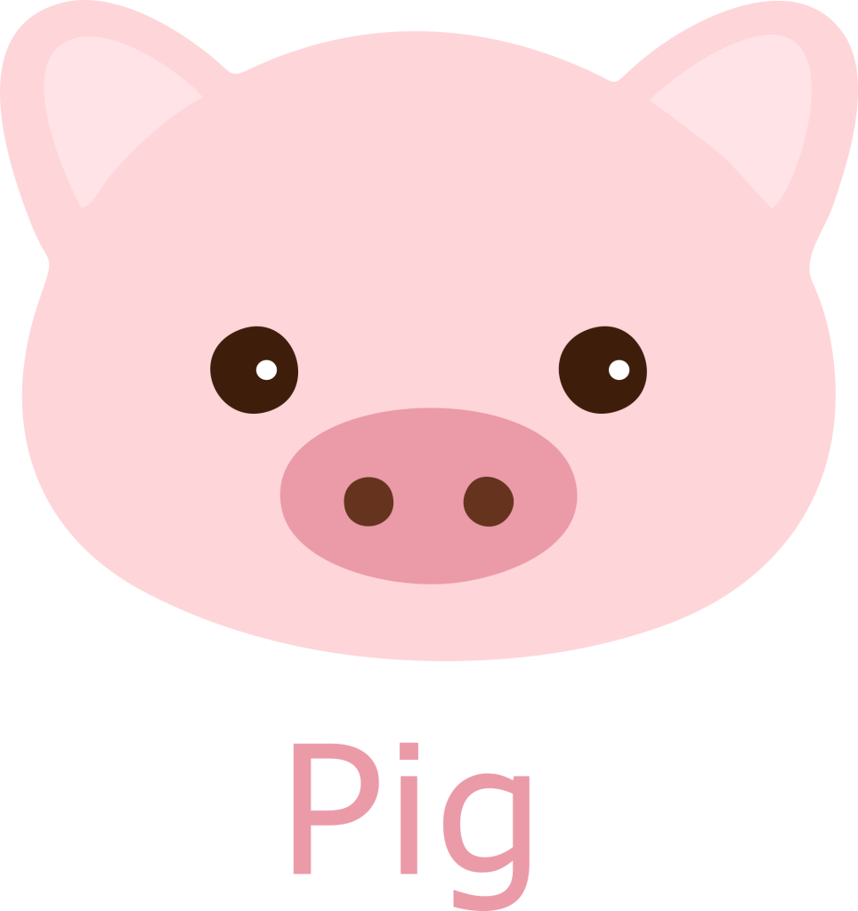 Pig Face Cartoon Image.