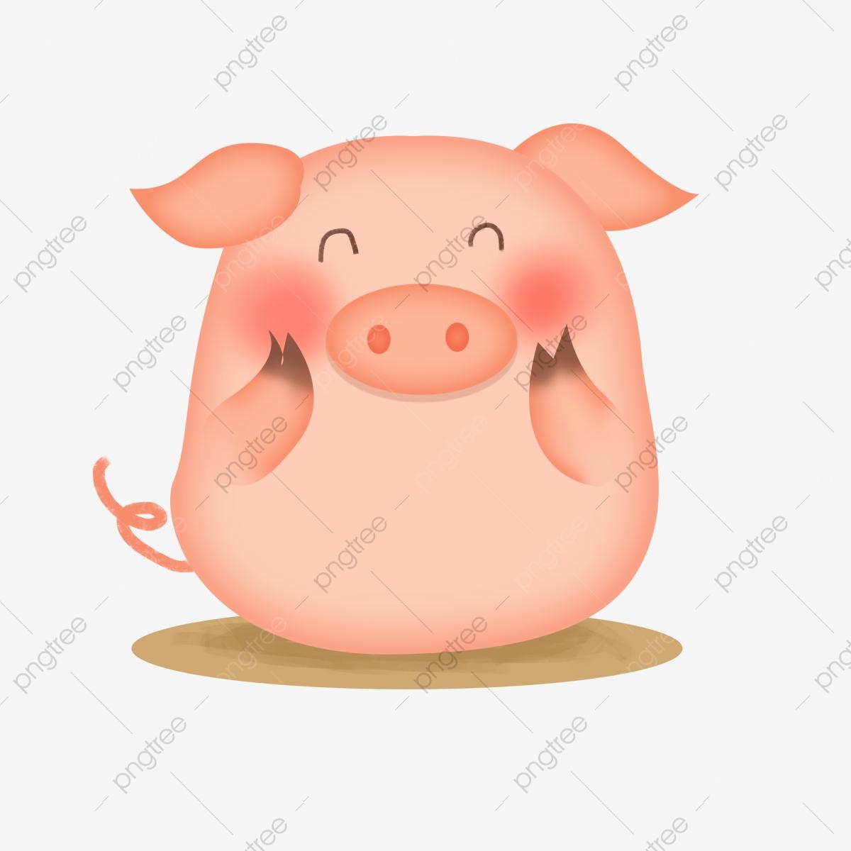 Hand Drawn Pig Cartoon Cute Pig Lovely, Love Pig, Pig, Cartoon Pig.
