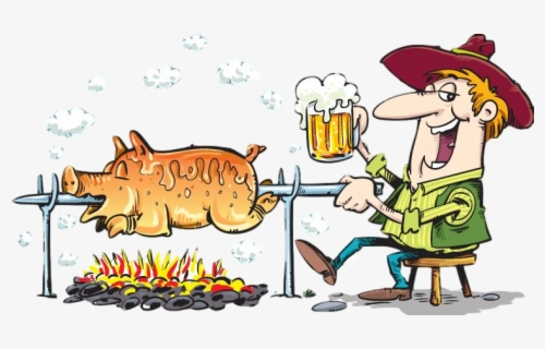 Free Pig Roast Clip Art with No Background.