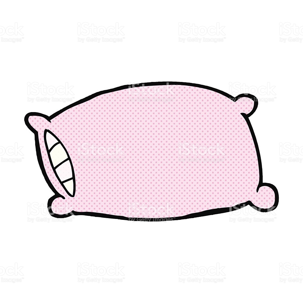 Pillow Clipart Cartoon Pencil And In Color Pillow, Cartoon Pillow.