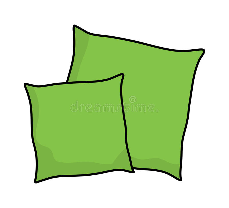 Cartoon Pillow Vector Stock Illustrations.