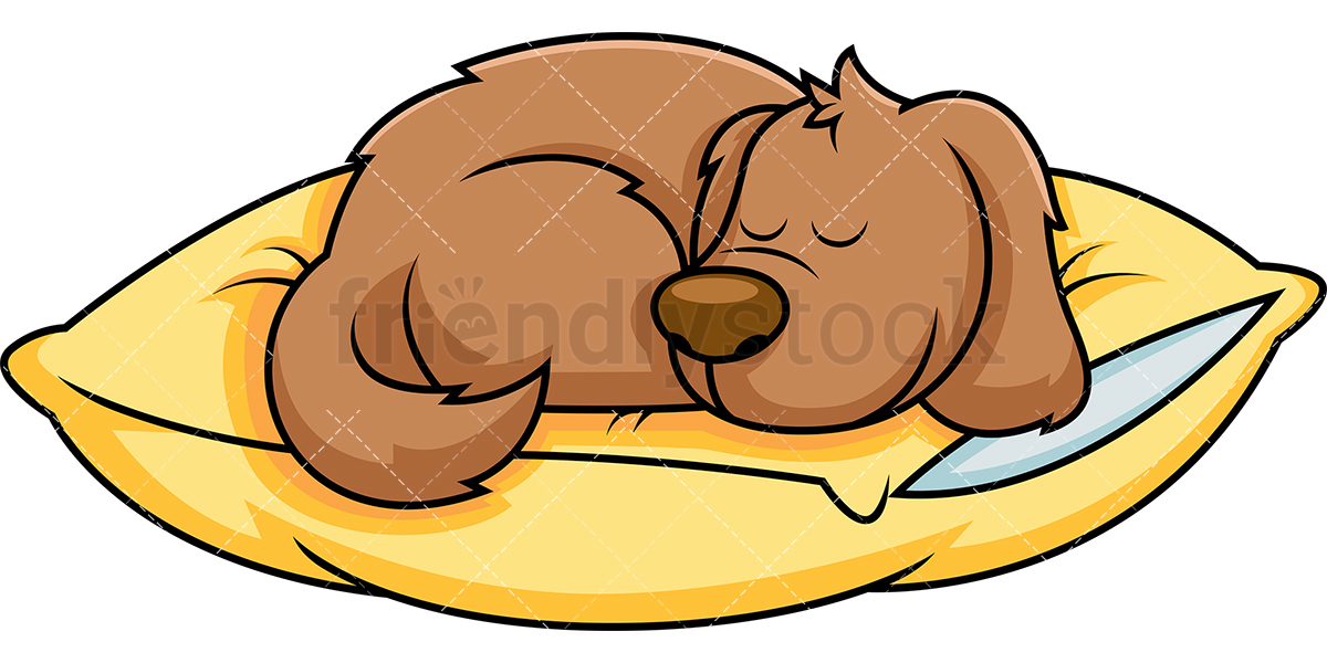 Dog Sleeping On Pillow.