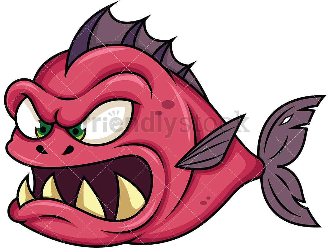 Evil Piranha Fish Monster.
