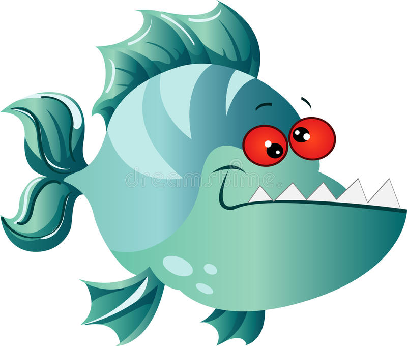 Piranha Cartoon Stock Illustrations.