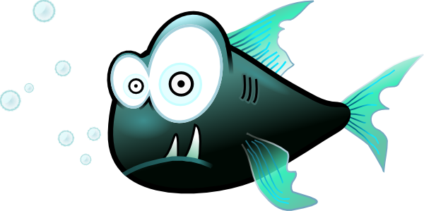Cartoon Piranha Fish clip art (118759) Free SVG Download / 4 Vector.