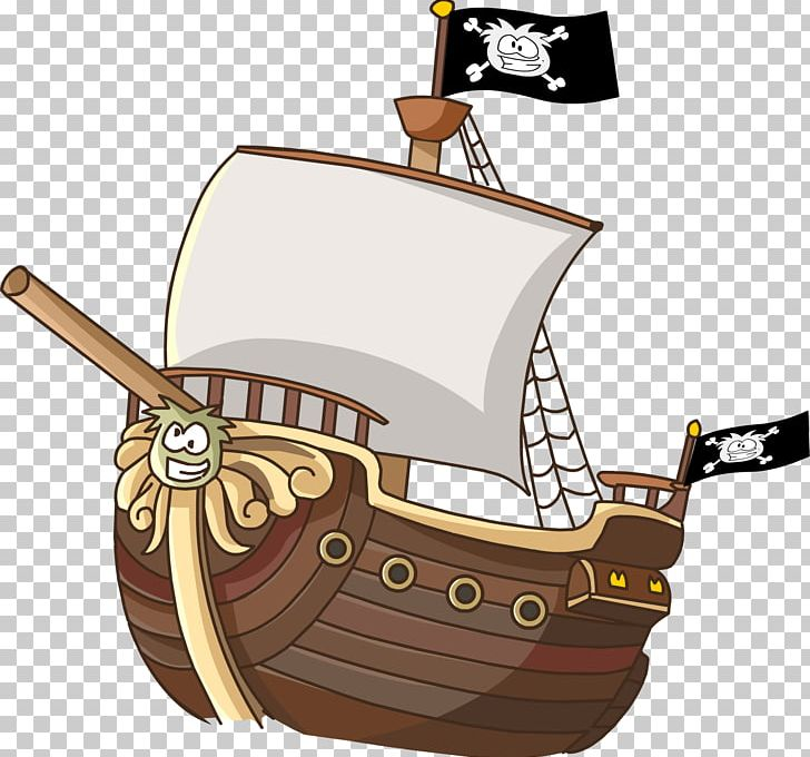 Cartoon Ship Piracy PNG, Clipart, Caravel, Carrack, Cartoon.