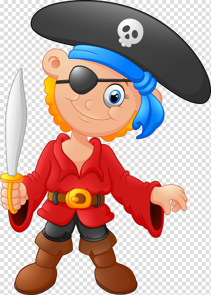 Piracy , Cartoon pirates transparent background PNG clipart.
