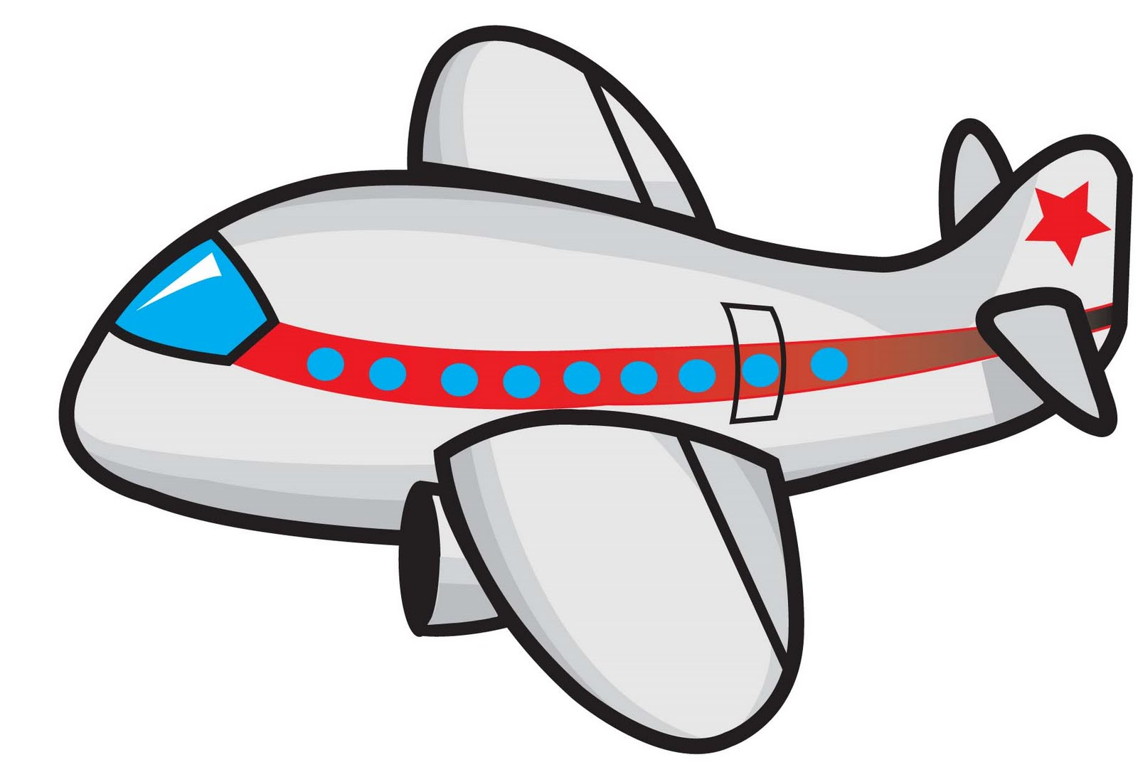 Cartoon Airplane Image.