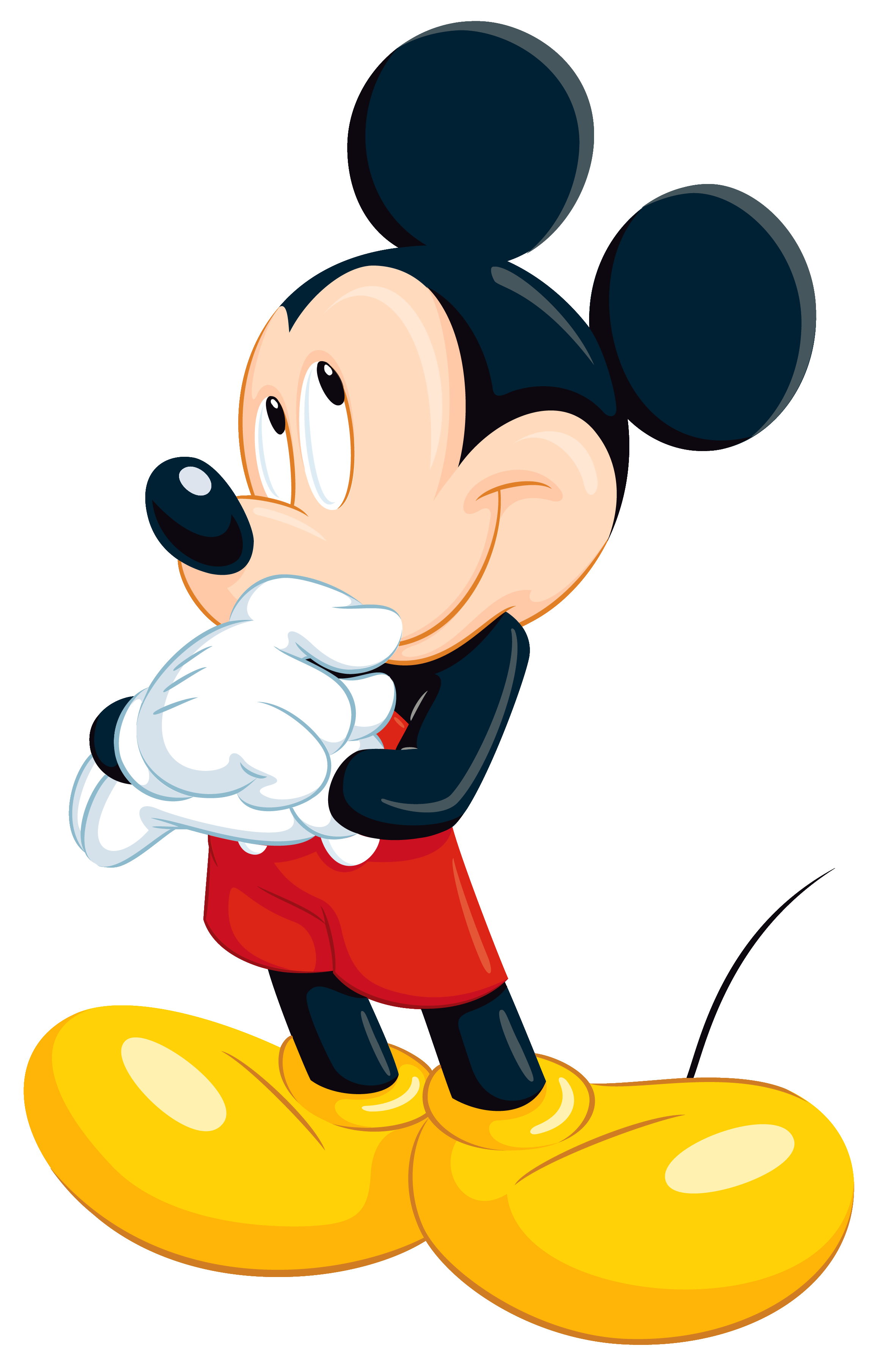 Mickey Mouse PNG Clipart Image.