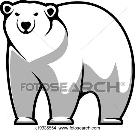 Cartoon polar bear Clipart.