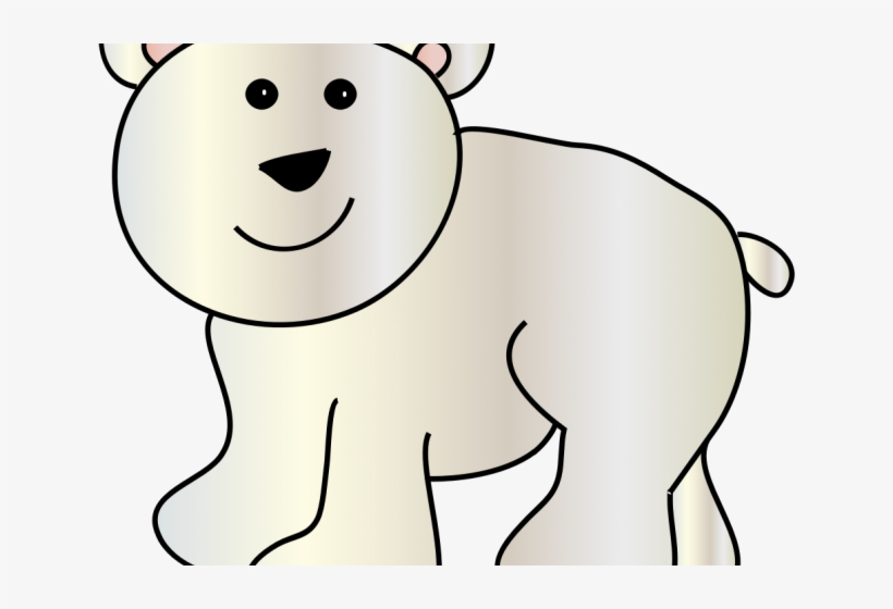 Polar Bear Clipart Realistic Cartoon.