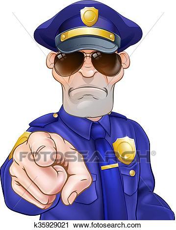Cartoon Policeman Clipart.