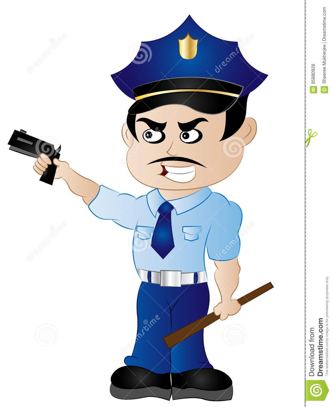Cartoon Policeman ClipArt stock vector. Illustration of traffic.