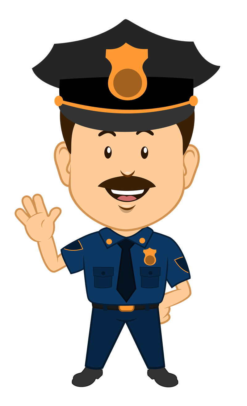 This cute cartoon clip art of a policeman is free for use on your.