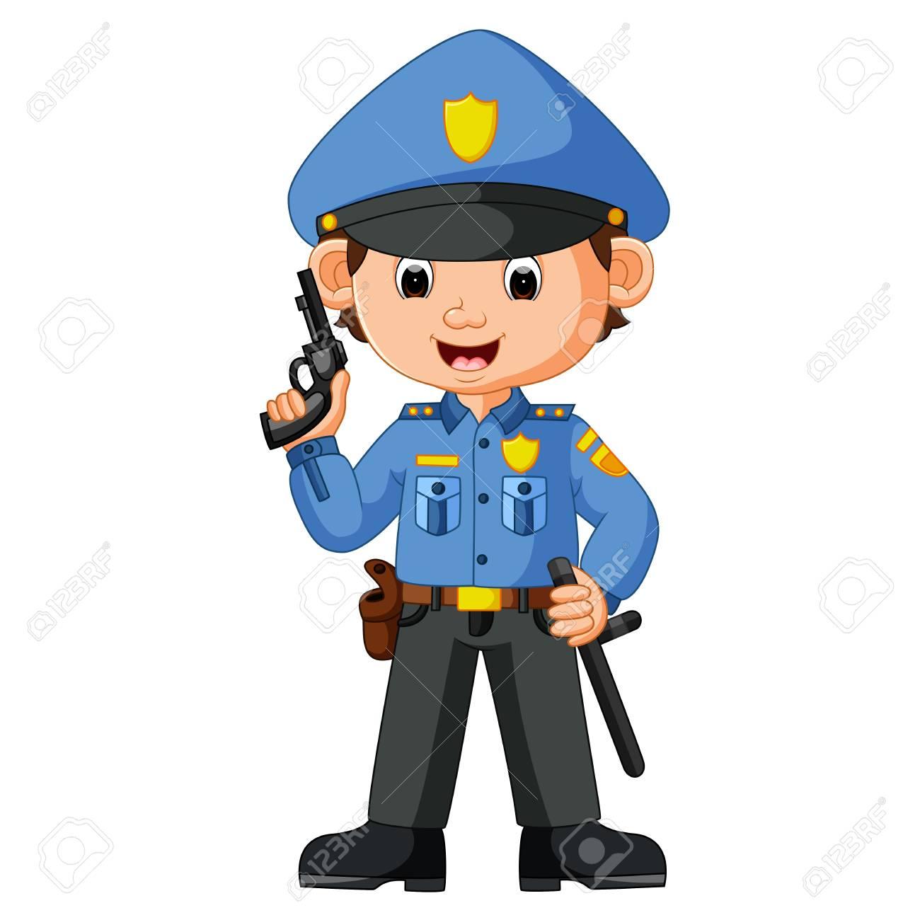 cute policeman cartoon.