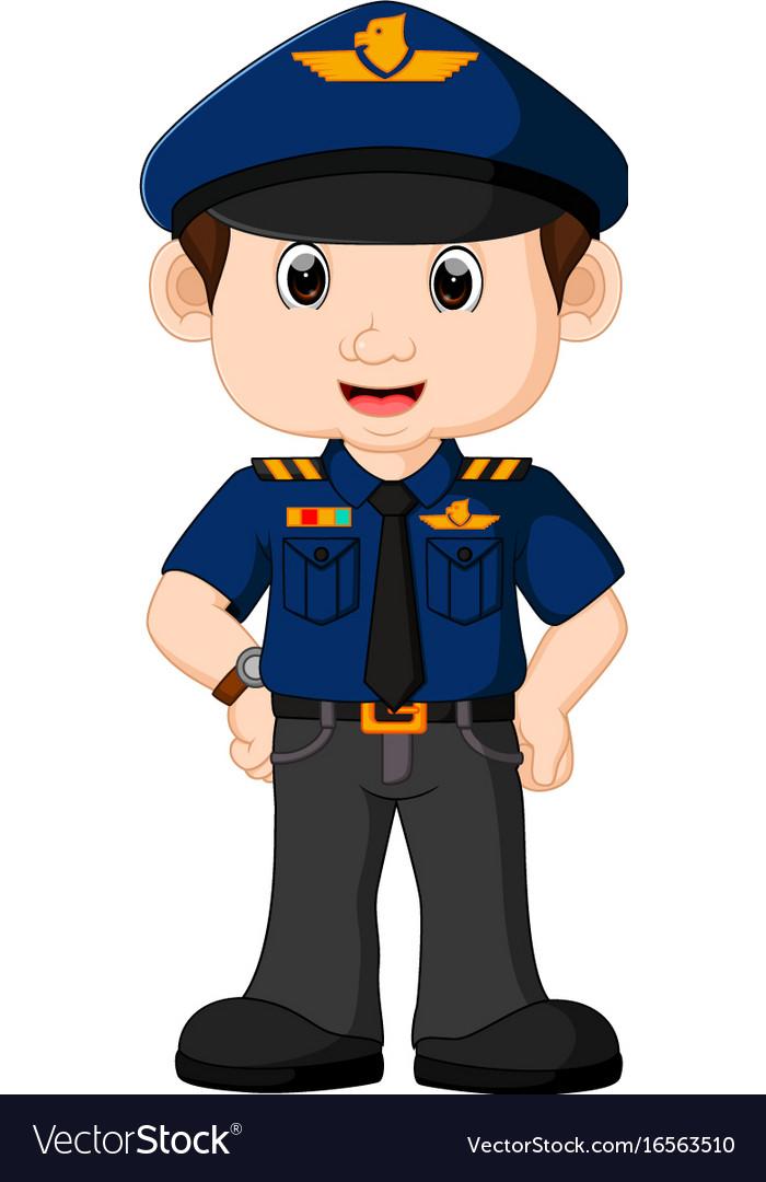 Young policeman cartoon.
