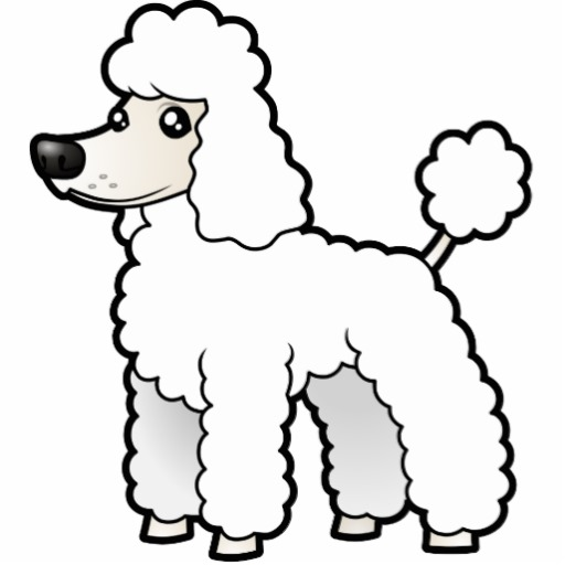 Cartoon Standard/Miniature/Toy Poodle (puppy cut) Photo.
