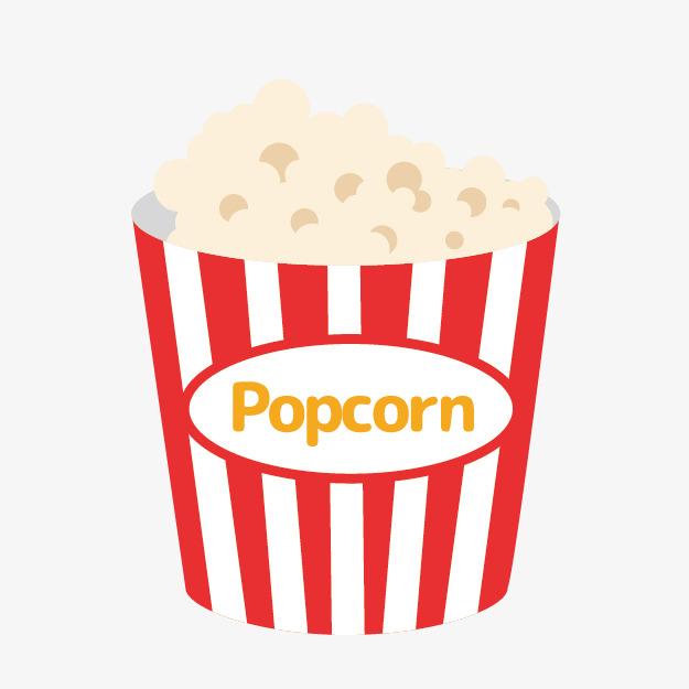 Cute Cartoon Popcorn, Cute Clipart, Cartoon Clipart, Popcorn Clipart.