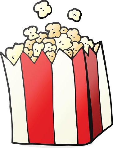 Cartoon Popcorn premium clipart.