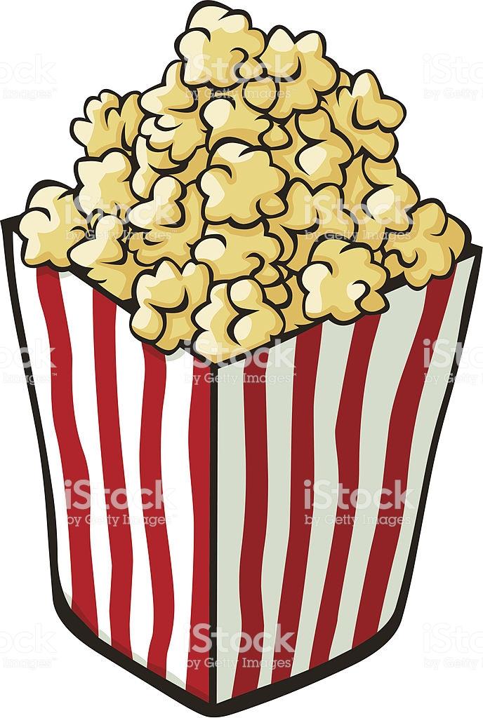 Cartoon Popcorn Stock Illustration.