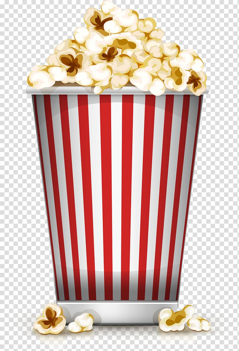 Popcorn , Popcorn Film Cinema Illustration, Cartoon yellow.