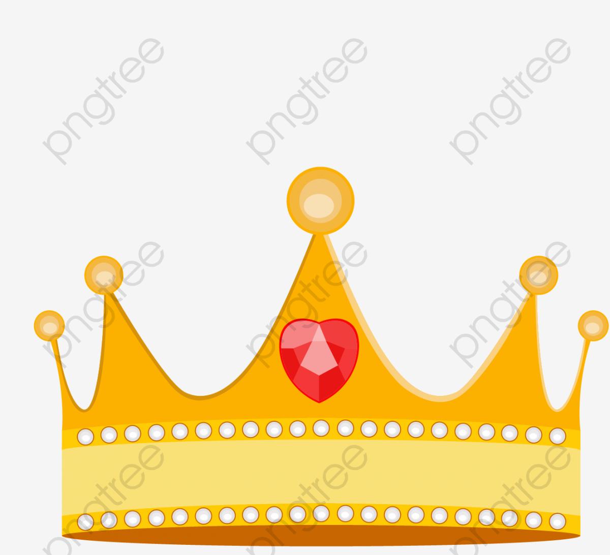 Cartoon Princess Crown Vector Material, Crown Clipart, Cartoon.