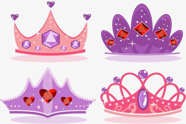 Pink Purple Romantic Crown, Princess Crown, Pink Crown, Diamond.