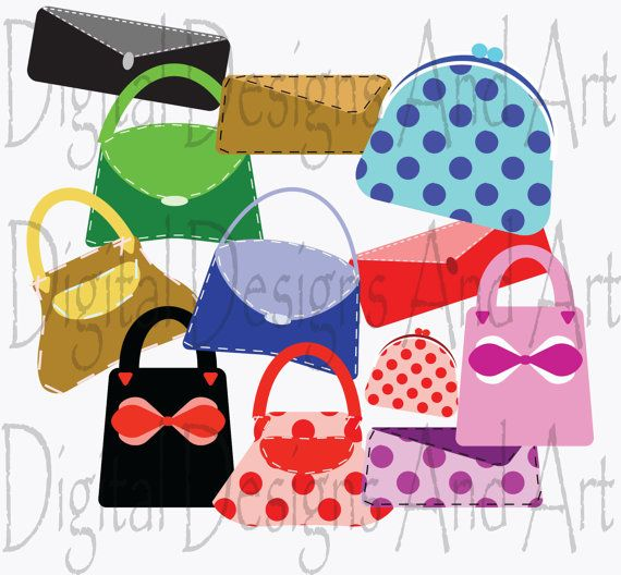 Woman handbag clipart.