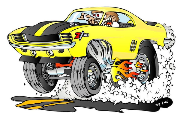 Cartoons Race Cars Clipart.