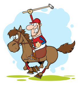 Free Racehorse Clipart Image 0521.