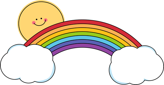 SUN, RAINBOW AND CLOUDS SMILEY.