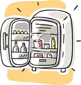 Cartoon Refrigerator Clip Art ., Fridge Free Clipart.