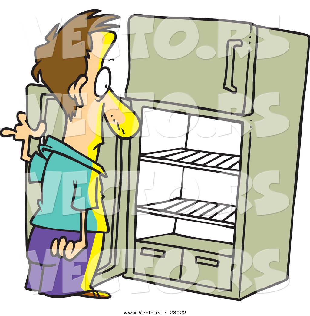 cartoon refrigerator clipart #19