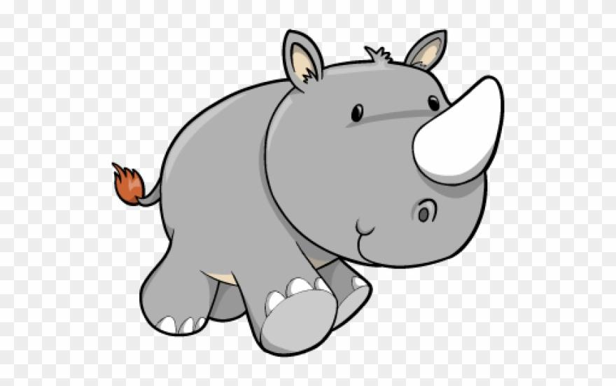 Baby Rhino Cartoon Clipart (#319537).