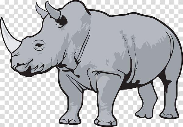 Rhinoceros Scalable Graphics , Cartoon Rhino transparent background.